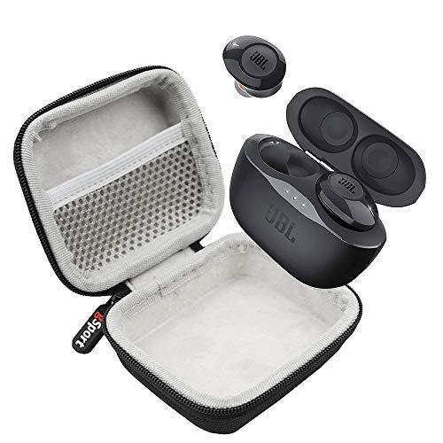 JBL Tune 120TWS True Wireless in-Ear Headphones Bundle with gSport Deluxe Hardshell Case (Black)