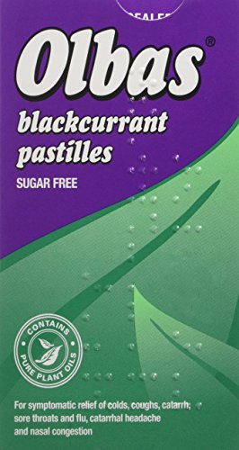 Olbas Pastilles contain mixture of essential oils to help with congestion and sore throat