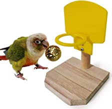 Keersi Bird Toys Basketball Training for Parrot Parakeet Cockatiel Conure Cockatoo African Grey Macaw Eclectus Amazon Lovebird Budgie Finch Canary Cage Foot Toy