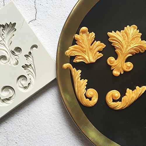 Vivin gumpaste Sculpté Flower Retro Totem Moule à gâteau en silicone Mat Design for gâteau décoration Cupcakes Sugarcraft Candies Perle Fondant Pâte Perle