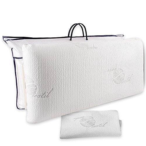 aqua-textil Cadiz Viscokissen 70x36x13 cm Visco Kopfkissen orthopädisches Kissen Gelschaum Nackenkissen