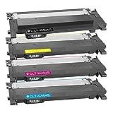 DASKOO CLT-K/C/M/Y404S - Tóner compatible con Samsung Xpress SL-C430/XSS, SL-C430W/XSS, SL-C480/XSS, SL-C480W/XSS, SL-C480FW/XSS, color 4 colores