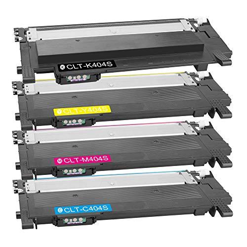 DASKOO CLT-K/C/M/Y404S - Tóner compatible con Samsung Xpress SL-C430/XSS, SL-C430W/XSS, SL-C480/XSS, SL-C480W/XSS,...