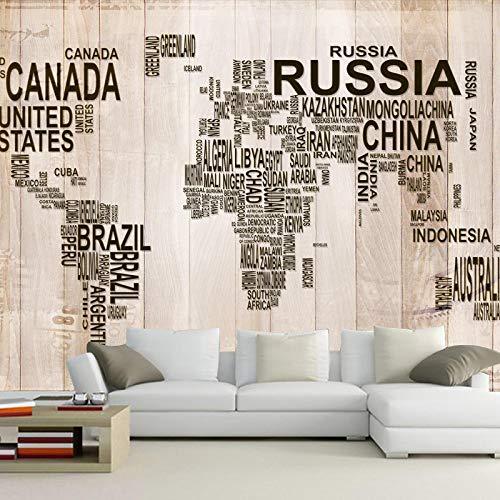 ZPDM 3D No Tejido o Vinile 15 tamaños Mural Pelar y Pegar Mural Fondo de Pantalla Creatividad letras mapa del mundo Mural Fotomural Papel Pintado Fondo De Pantalla Personalizado Hd Exquisito TV Fondo