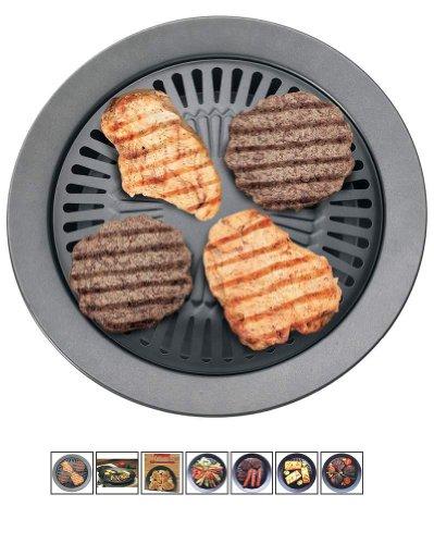 Chefmaster Stove Top Indoor BBQ Grill Plus Indoor Grilling Cookbook (bundle)