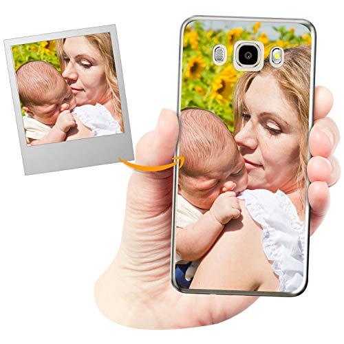 Coverpersonalizzate.it Cover Personalizzata per Samsung Galaxy J5 2016con la Tua Foto, Immagine o Scritta - Custodia Morbida in TPU Gel Trasparente - Stampa di altissima qualità