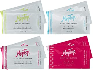 MopTop More is More Trial Size Bundle, 2 each Bamboo Gentle Shampoo, Bamboo Daily Conditioner, Bamboo Essence Leave In Con...