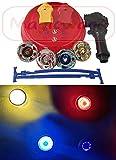 Magicwand 4 Big Metal Beyblades With Led Lights, 2 Launchers, 1 Stadium, 2