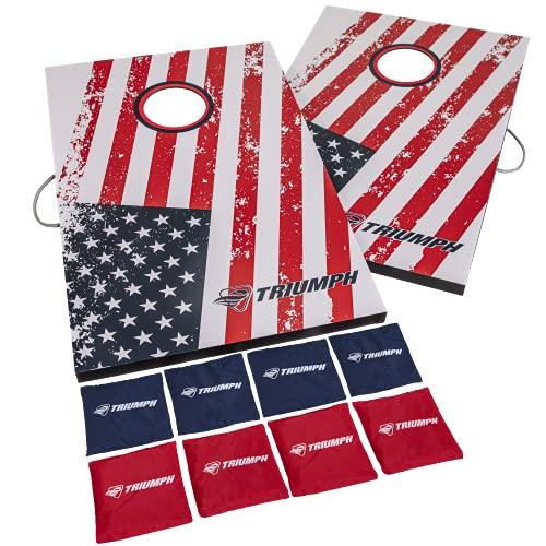 Triumph Patriotic Classic 2x3 Cornhole Set - Includes 2 Patriotic...