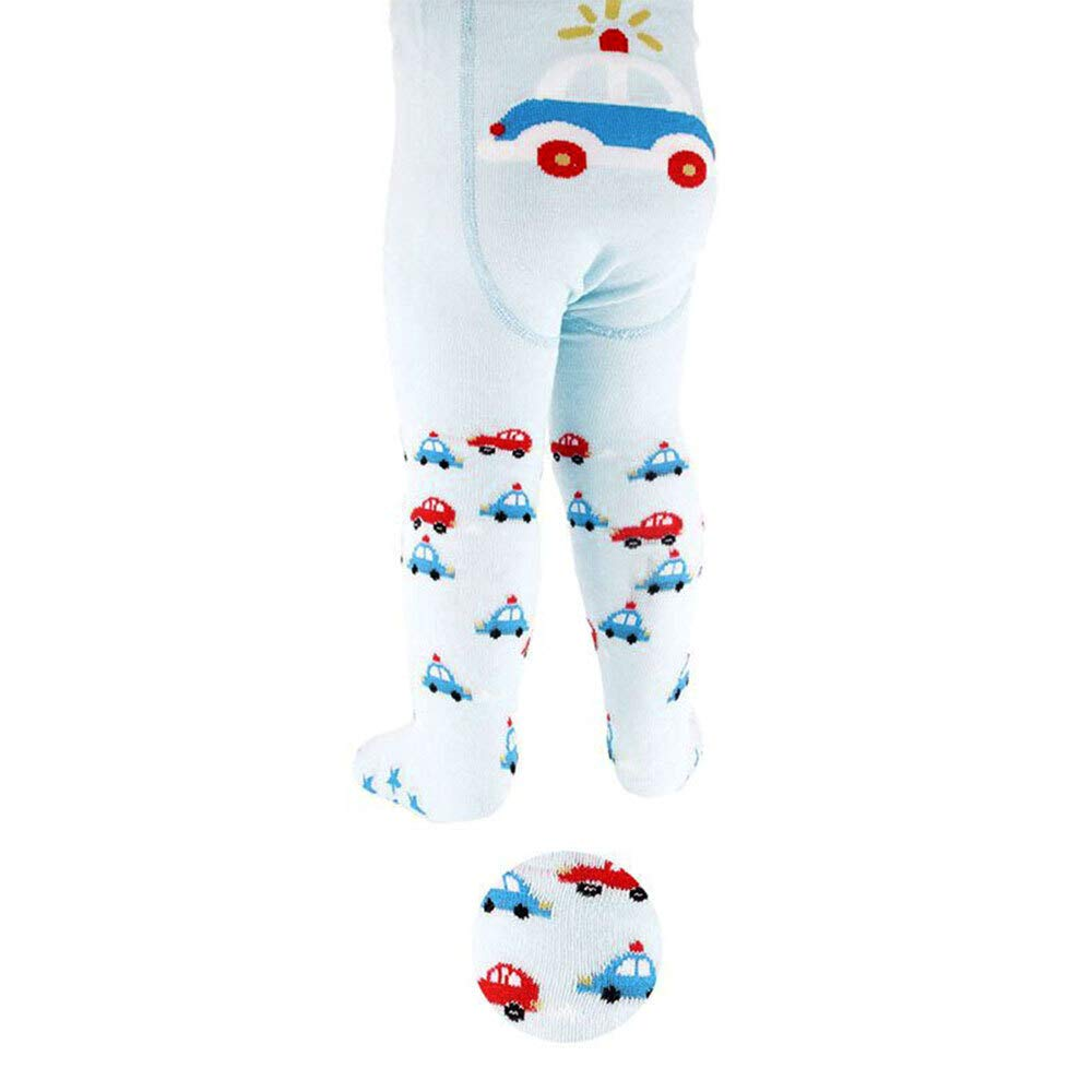 Gr/ö/ße: 6-12 Monate Soft Touch Strumpfhose Jungen hellblau blau rot Baby Strumpfhose f/ür Neugeborene /& Kleinkinder 74//80 Motiv: Auto