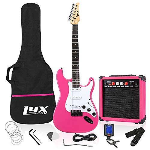 LyxPro Full Size Electric Guitar with 20w Amp review