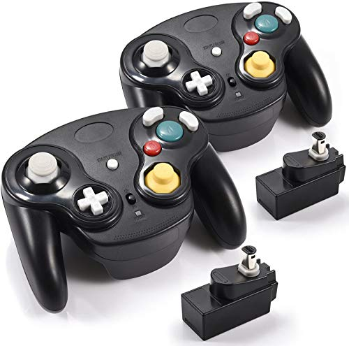 miadore 2 Pack Wireless NGC Controller for Game Cube & Wii Console with Receiver Adapter, Classic...