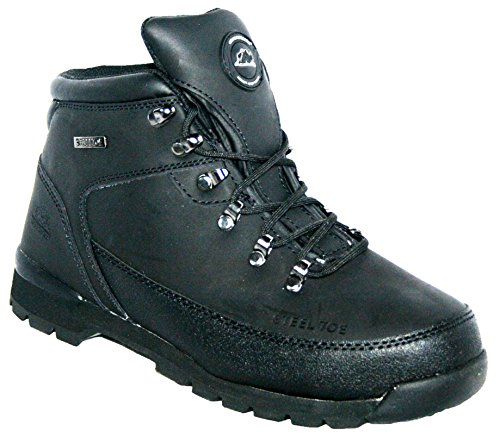 MENS LEATHER UPPERS SMART/CASUAL LACE UP STEEL TOE CAP SAFETY BOOT BLACK 9