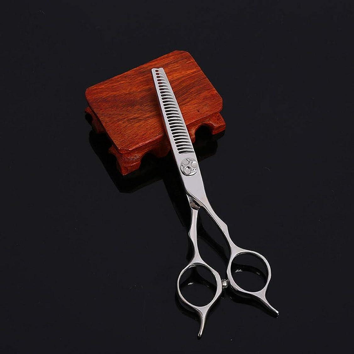 潜むゴムパッチWASAIO シアーズはさみセットヘアカット5.5インチカービング美容専門ステンレス鋼理容美容サロンテクスチャーレイザーエッジシザー髪 (色 : Silver)