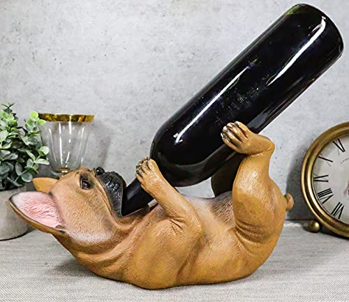 Ebros Canine Pedigree French Bulldog Frenchies Wine Oil Bottle Holder Figurine Kitchen Decor