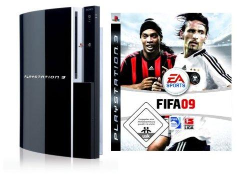 Playstation 3 - Konsole 80 GB inkl. Dual Shock 3 Wireless Controller + FIFA 09