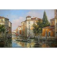 DJHOLI 500 1000 1500 2000 3000 4000 5000個の5000個のピースの木製の油絵ジグソーパズル、有名な風景大きいジグソーパズル知識的な教育的な教育的な教育的な教育的なゲームが困難 - ヴェネツィア運河 (Size : 5000 pcs)
