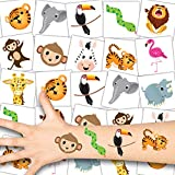 German Trendseller® 36 x Zoo Tier Tattoos - Tattoo temporär ┃ Safari Party ┃ Kindergeburtstag...