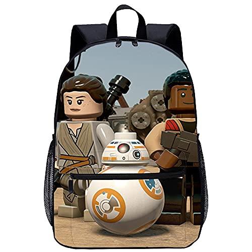 Yebaihe Zaino Scuola Elementare 3D Zaino Scuola per -LEGO Star Wars Il Risveglio della Forzada viaggio unisex di moda Borsa da scuola-Dimensioni: 45x30x15 cm/17 pollici-Zainetti per Bambini