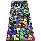VOROY Tapis Yogo pour femme, jeu vidéo parmi les dessins animés artistiques, tapis d'exercice et sac de yoga en maille pour exercices d'équilibre à la maison 61 x 180 cm