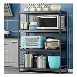 Estantería metalicas Cocina Baldas Cestas para cubiertos Soportes para platos Estante de almacenamiento de acero inoxidable horno de microondas estante de almacenamiento-4-60cm