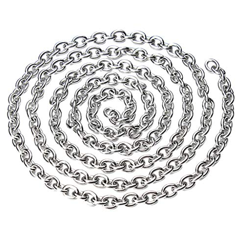 Fenteer 5M Edelstahlkette für DIY Halskette Armband Schmuckherstellung Zubehör - 4x5mm