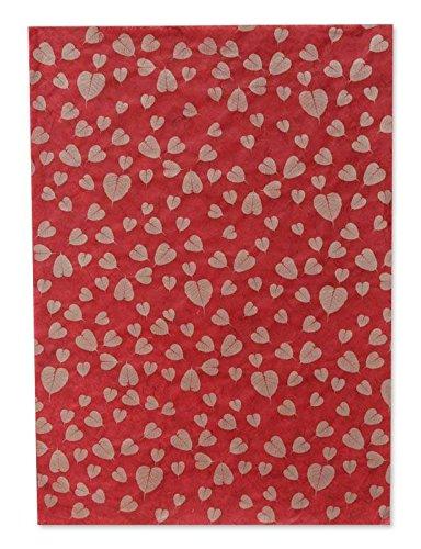 NOVICA Tree Saa Papier-Tagebücher, 50,2 x 69,8 cm, Rot