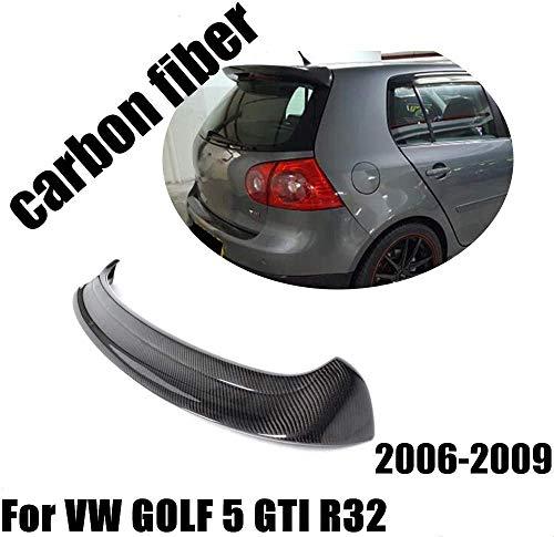 HYNB Carbon Fiber Achterspoiler, Kofferbak Dak Kofferbak Deksel Venster Vleugel Lip voor Volkswagen VW Golf 5 V MK5 GTI & R32, 2005-2009, (niet voor Golf 5 Gewone model)