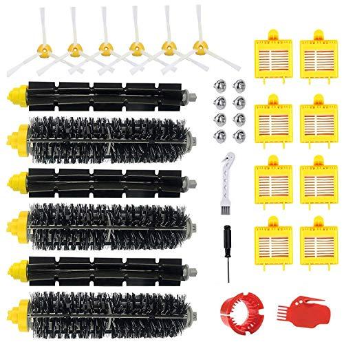 Leadaybetter Roomba Ersatzteile zubehör für iRobot Roomba 790 782 780 776 774 772 770 760 700 Serie 23 teilig Bürsten Filter Ersatzset