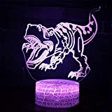ARXYD Base de altavoz bluetooth de 16 colores con luz nocturna Jurassic World Tyrannosaurus Marker Light Game Night Light Discoloration Touch Mood Light Spaceship Lámpara de Mesa Luz Nocturna Infantil