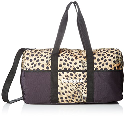 Desigual Life Bag W, bolsa de medio lado para Mujer, Negro (2000 NEGRO), 25x30x52 cm (B x H x T)