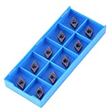 10Pcs Cemented Carbide CNC Tips Inserts Spade Blade Inserts for Lathe Cutting Machine DCMT...