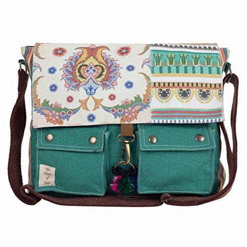 The House of tara Girls' Printed Canvas Messenger Bag 15'X12'X3' (W X H X D) Multicolour