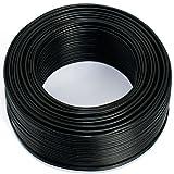 Cable para altavoz (2 x 0,75 mm², 50 m, CCA, cable de audio), color negro