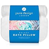Bath Pillow for Bathtub - Tub Pillow for Back and Head - Bath Neck Pillows for tub - Headrest and Shoulder Support Cushion - Spa Pillow for Bath or Bubble Jet Jacuzzi - Easy to wash Non Slip Design.
