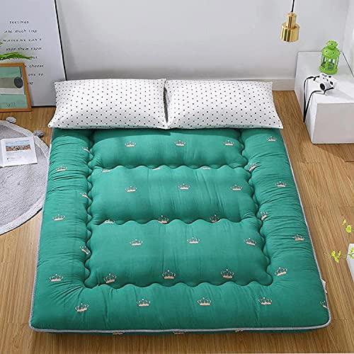 LLLZM Premium Tatami Almohadilla De Colchón,colchón de futón Transpirable, colchón Enrollable Individual Doble Plegable, colchón de futón Transpirable