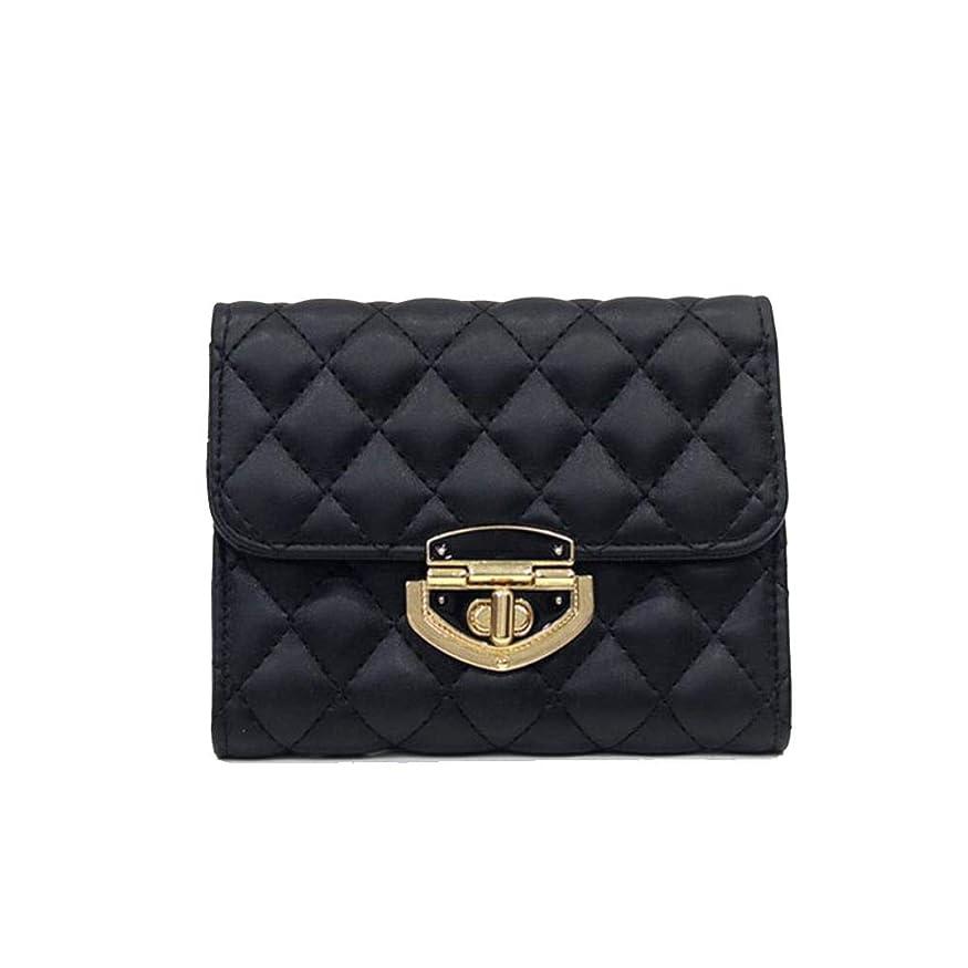 光景処方する不適当クラッチバッグ、小さな香り、菱形の短い財布、スプリングレディ、三つ折り、マルチカード財布