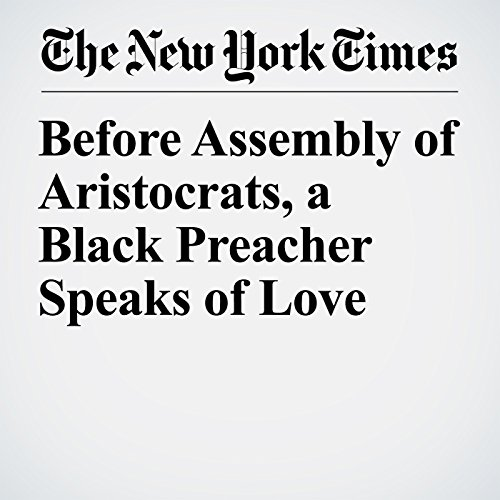 Before Assembly of Aristocrats, a Black Preacher Speaks of Love copertina