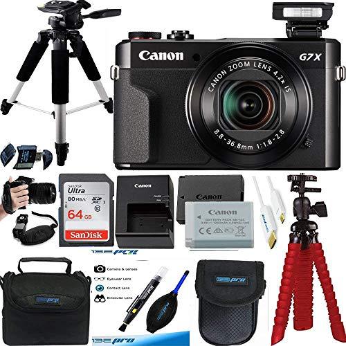 PowerShot G7 X Mark II 20.1MP 4.2X Optical Zoom Digital Camera + Expo Premium Accessories Bundle - International Version (No Warranty)