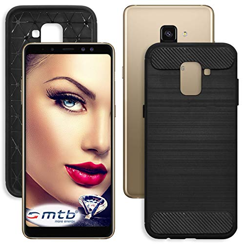 mtb More Energy® Funda TPU Carbono para Samsung Galaxy A8 Plus -...