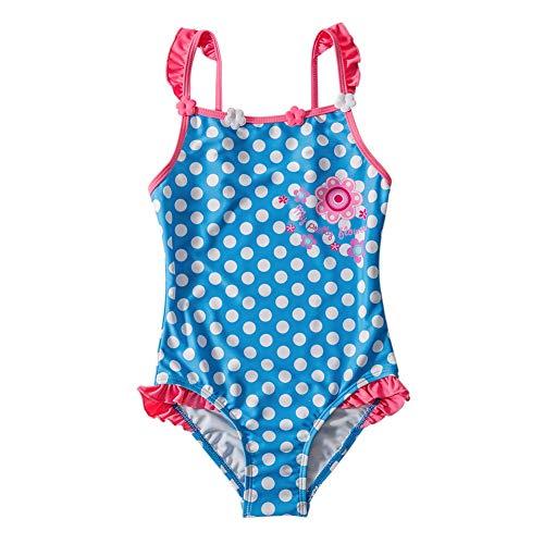 LAPLBEKE Mädchen Badeanzug Einteiler Polka Dots Schwimmanzug Bademode Badekleidung 110-116