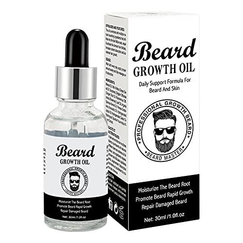 Homeit Men's Beard Beard Crecimiento Aceite 30 ML Suavizo y hidratante Aceite Esencial para Barba, Barba Atención de aceite Tratamiento Bigote Pelo Moancer
