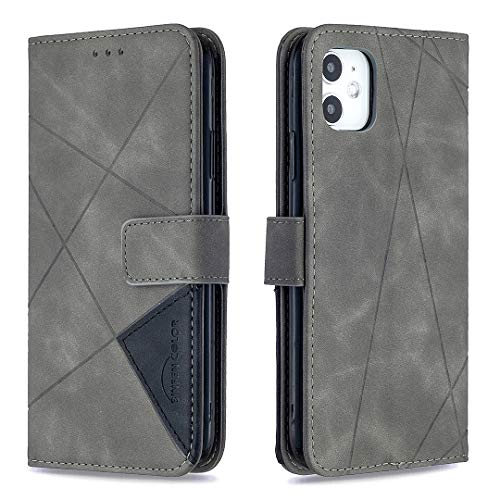 ERUMID Funda para iPhone 11 Pro, con tapa tipo cartera para iPhone 11 Pro, color gris