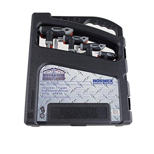 Normex Set 16tlg Sechsrund Innensechskant Winkelschlüssel CV T-Profil Sechskant