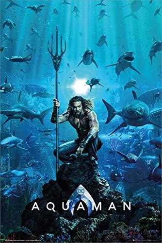 Justice League Laminiert Aquaman Poster One Sheet 61 x 91,5 cm