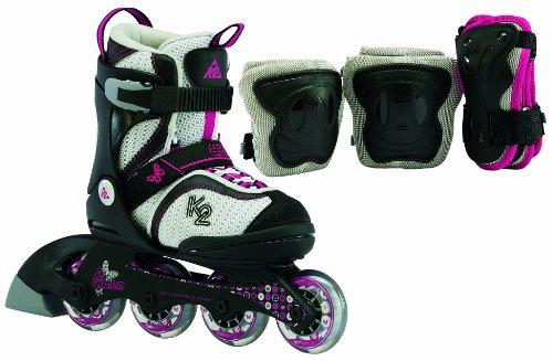 K2 Mädchen Kinder Skate Charm Pack, grau, 32-37 cm, 3030007.1.1.M