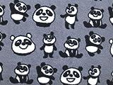 Minerva Crafts Fleece-Stoff, Panda-Print, Anti-Pilling,