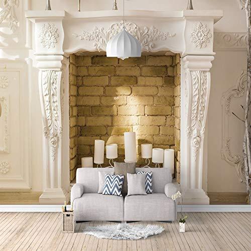 3D Fototapete Wandbild Kamin Aufkleber selbstklebende leinwand für Schlafzimmer Wohnzimmer Tv Hintergrund Wanddekoration Wandbilder 150cm(W) x105cm(H)-3 Stripes
