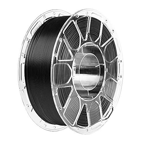 PLA-Filament 1,75 mm, Comgrow PLA 3D-Druckfilament Schwarz, Maßexaktigkeit +/- 0,02 mm, 1 kg (2,2 LBS) Spule, PLA Schwarz