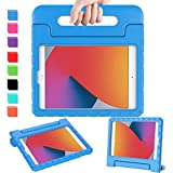 AVAWO iPad 8th & 7th Generation Kids Case, iPad 10.2 2020 Kids Case, Light Weight Shock Proof Convertible Handle Stand Kids Friendly Case for iPad 10.2 inch 2019 & 2020 Release and Air 3 - Blue
